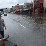 Hint of the flood leading to Chanthaburi – Thailand