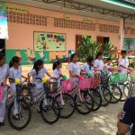 The bicycles for the BAN KHLONGPONG SCHOOL in THA MAI DISTRICT